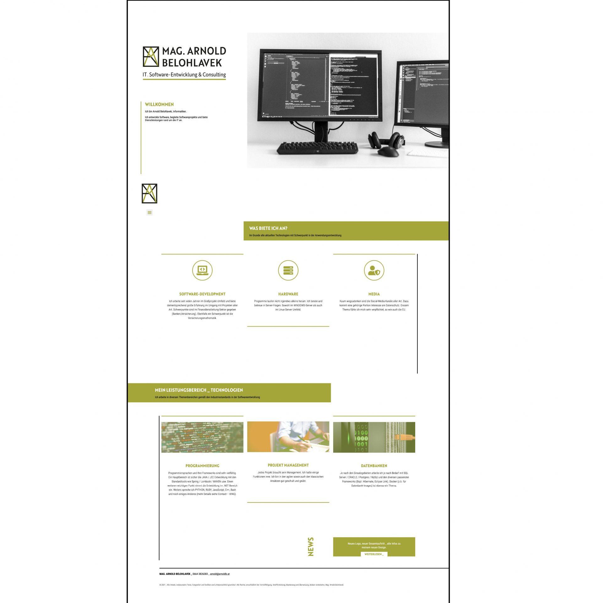 website-übersicht für mag. arnold belohlavek